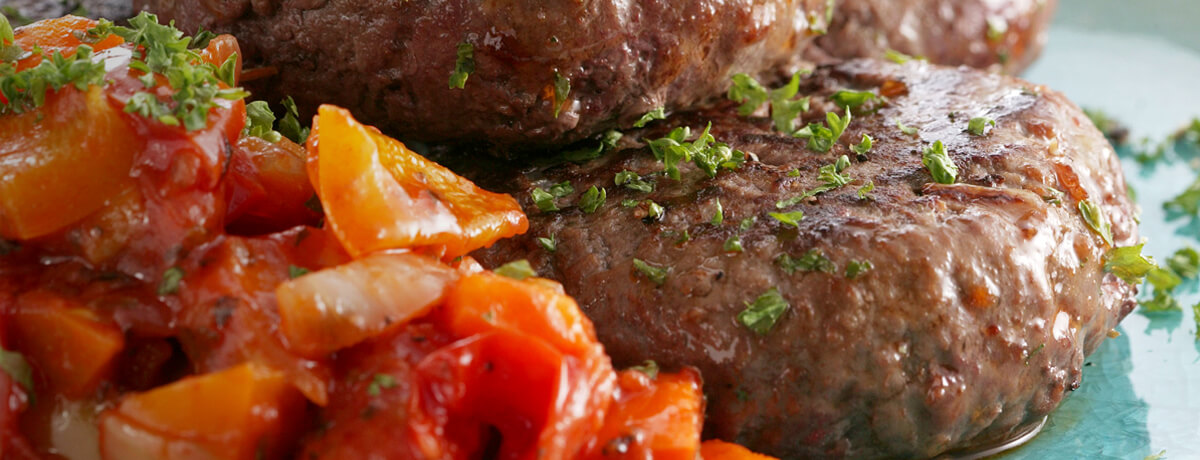 Minted Lamb Beef Burgers from Blagdon Farm Shop
